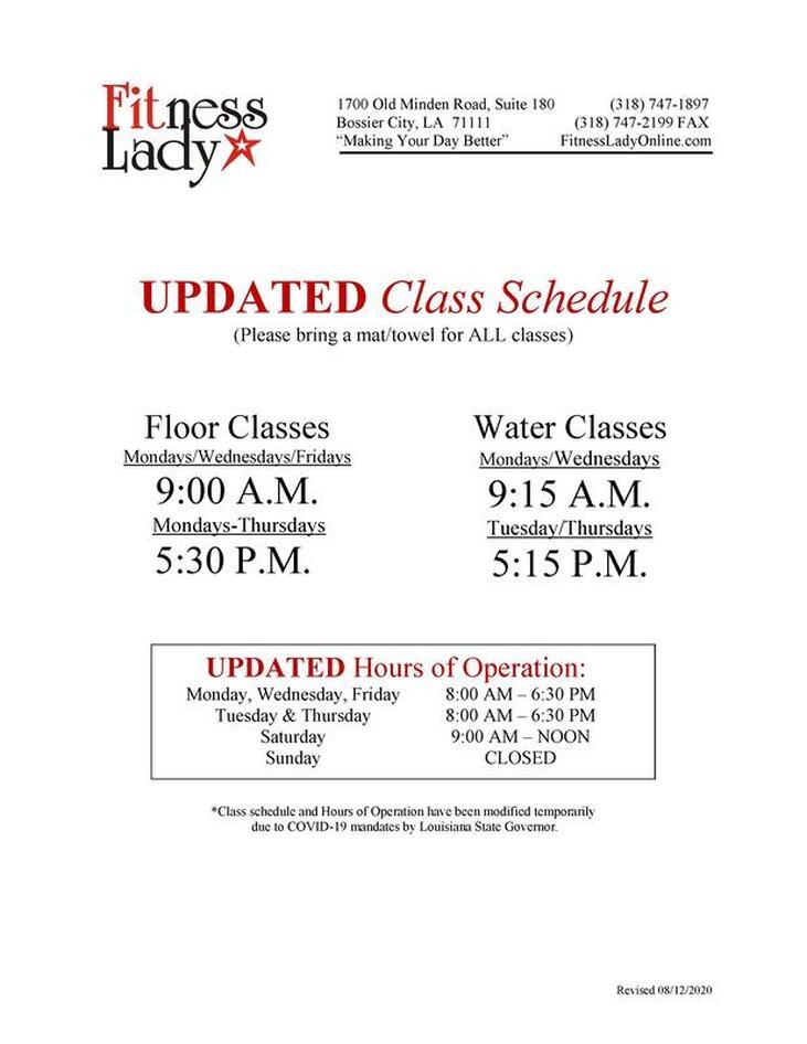 La Fitness Class Schedule / Updated la fitness class schedule.